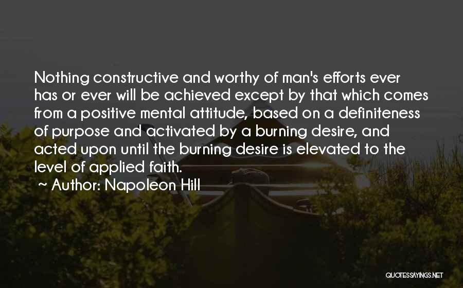 Applied Faith Quotes By Napoleon Hill