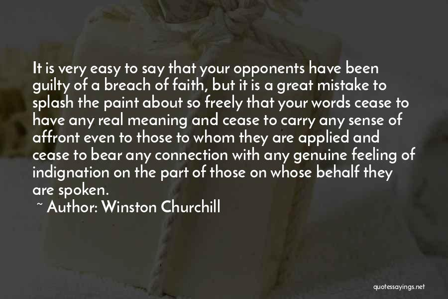 Applied Faith Quotes By Winston Churchill