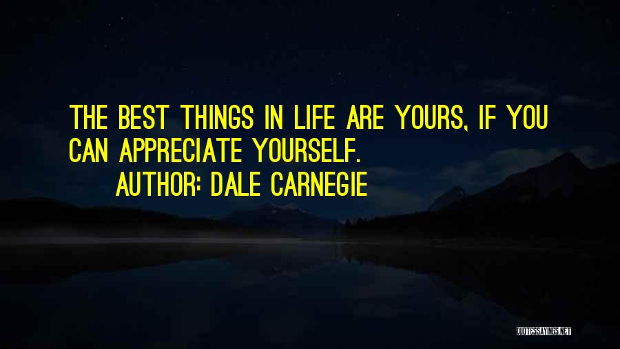 Appreciate Things In Life Quotes By Dale Carnegie
