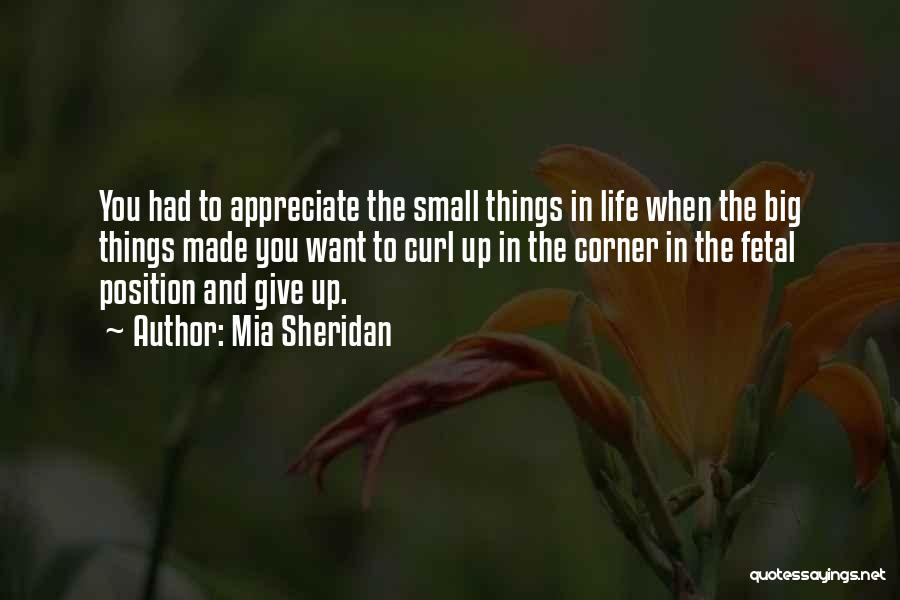 Appreciate Things In Life Quotes By Mia Sheridan