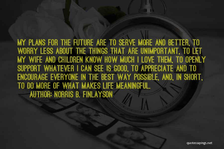 Appreciate Things In Life Quotes By Norris B. Finlayson