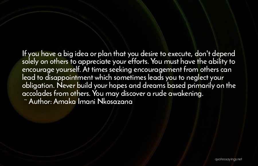 Appreciate Your Efforts Quotes By Amaka Imani Nkosazana