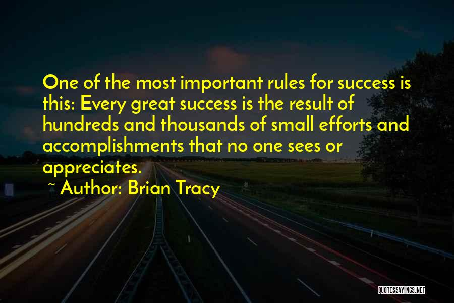 Appreciate Your Efforts Quotes By Brian Tracy
