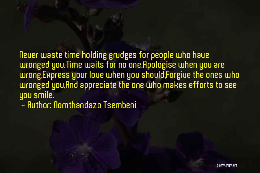 Appreciate Your Efforts Quotes By Nomthandazo Tsembeni