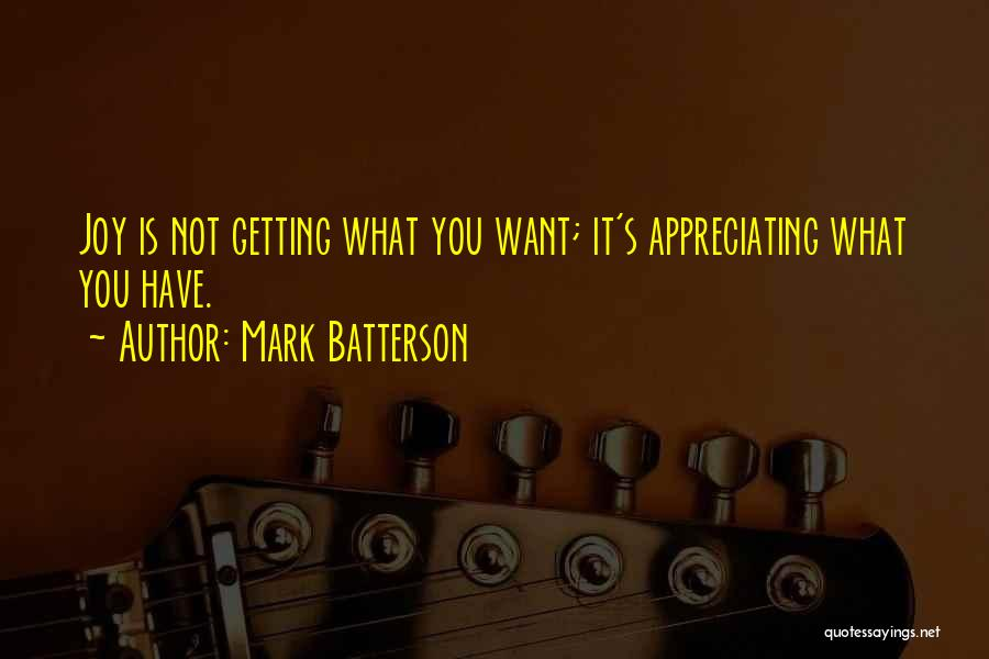 Appreciating What You Have Quotes By Mark Batterson