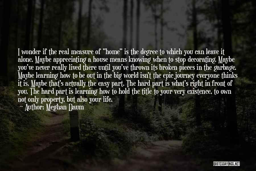 Appreciating What You Have Quotes By Meghan Daum