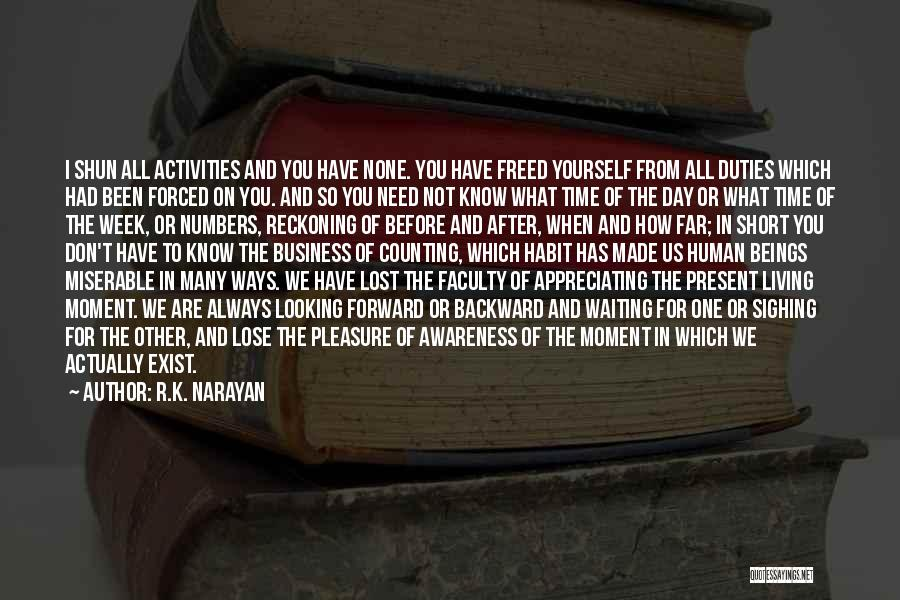 Appreciating What You Have Quotes By R.K. Narayan