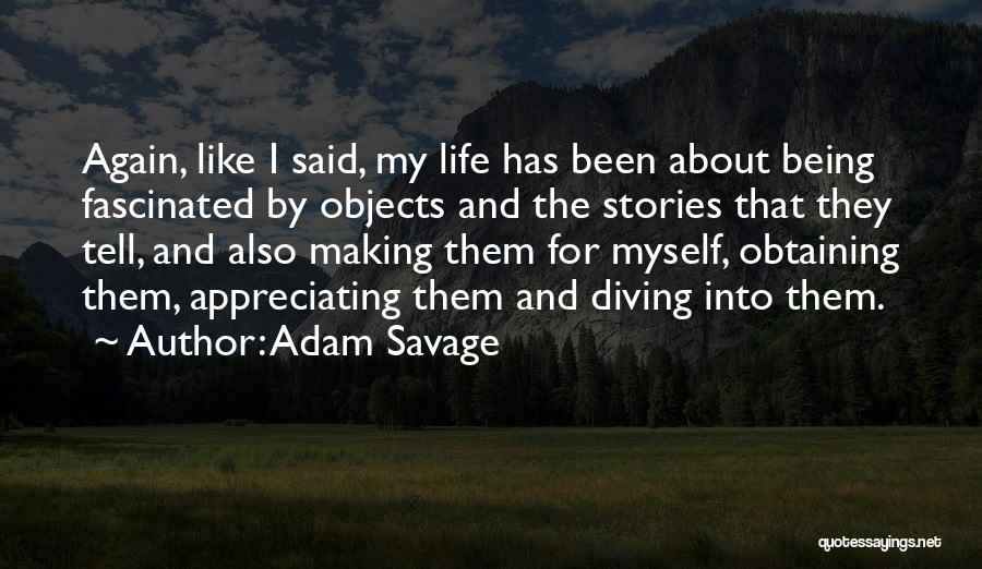 Appreciating Your Life Quotes By Adam Savage
