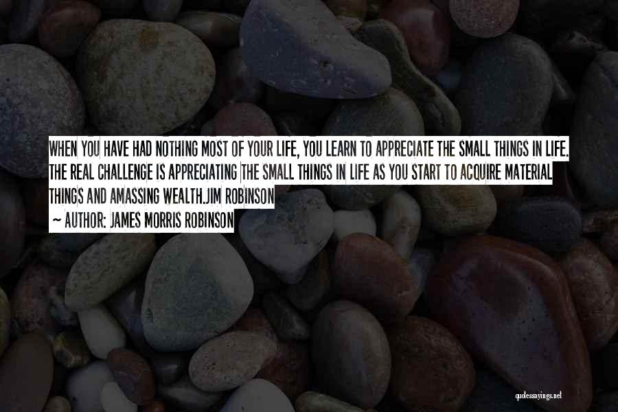 Appreciating Your Life Quotes By James Morris Robinson