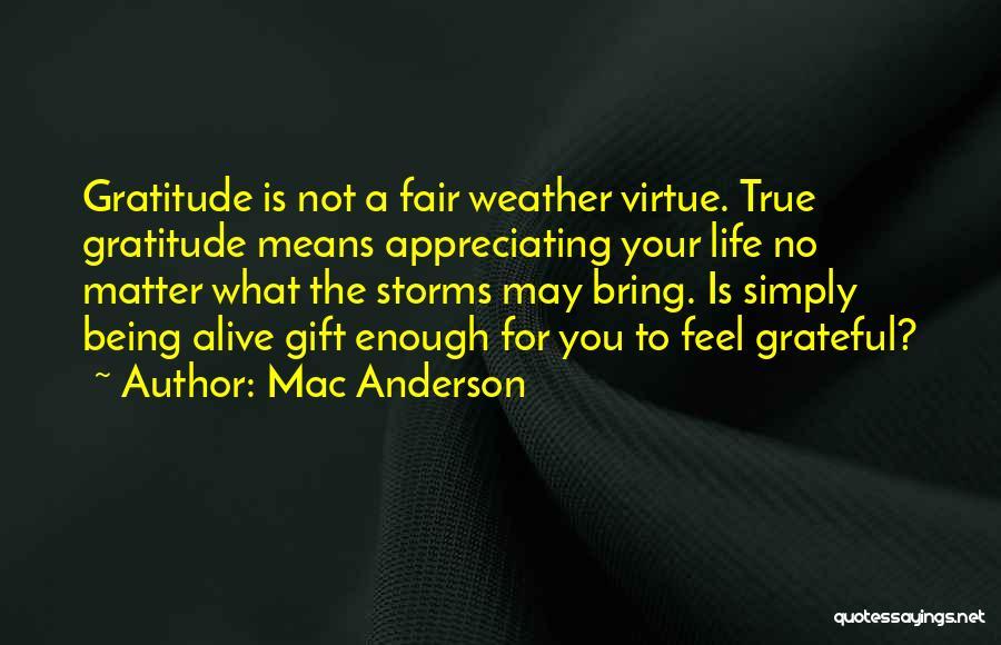 Appreciating Your Life Quotes By Mac Anderson