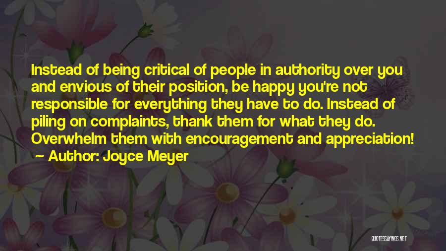 Appreciation And Thank You Quotes By Joyce Meyer