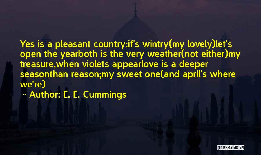 April Weather Quotes By E. E. Cummings