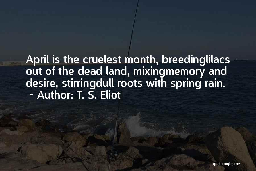 April Weather Quotes By T. S. Eliot