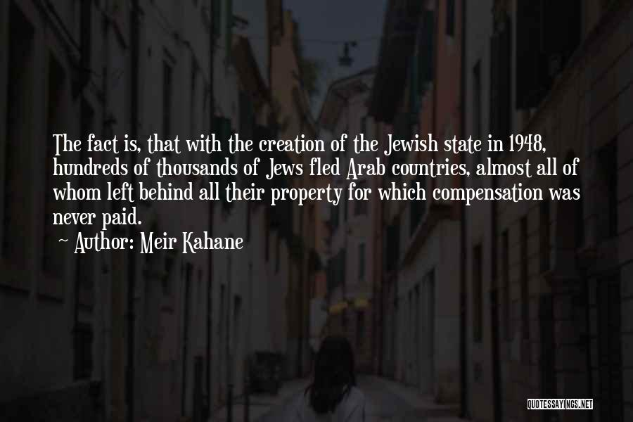 Arab Countries Quotes By Meir Kahane