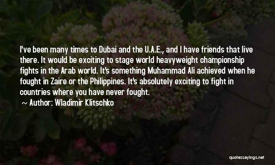 Arab Countries Quotes By Wladimir Klitschko
