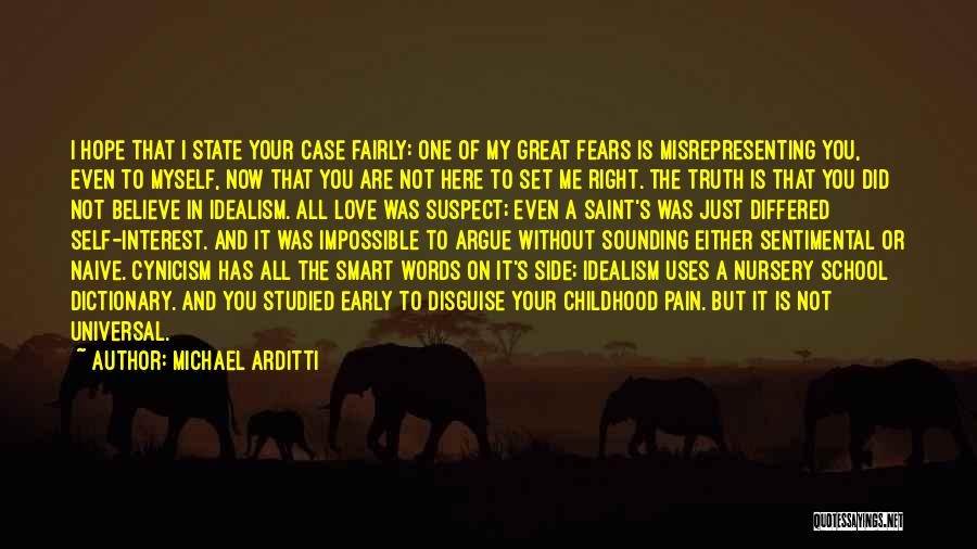Argue And Love Quotes By Michael Arditti