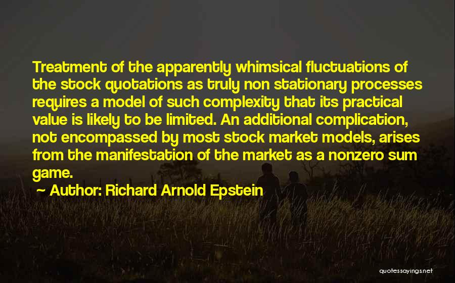 Arnold Quotes By Richard Arnold Epstein