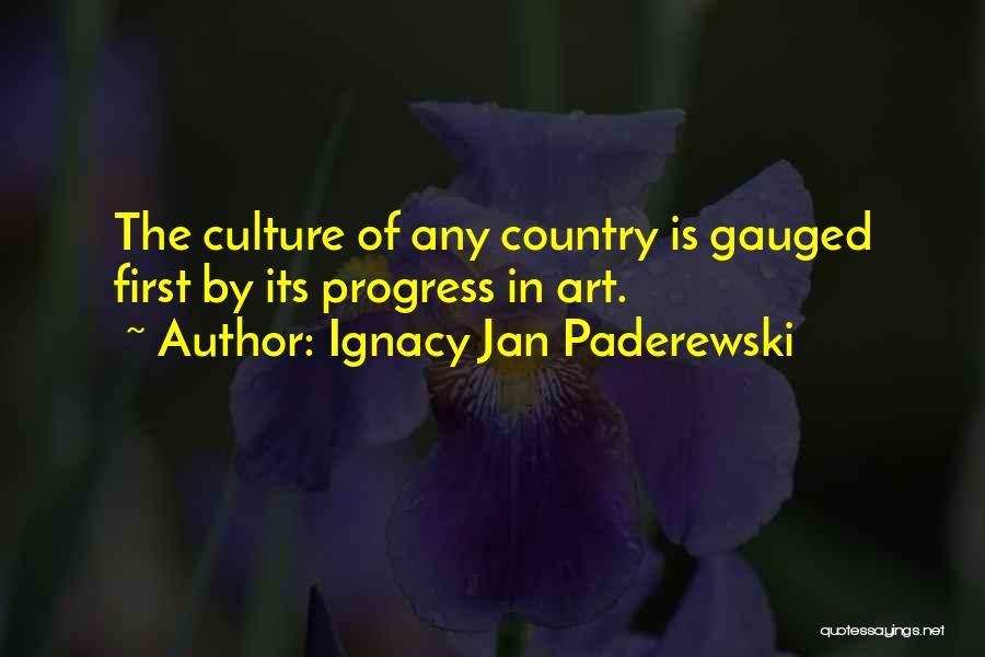 Art Culture Quotes By Ignacy Jan Paderewski