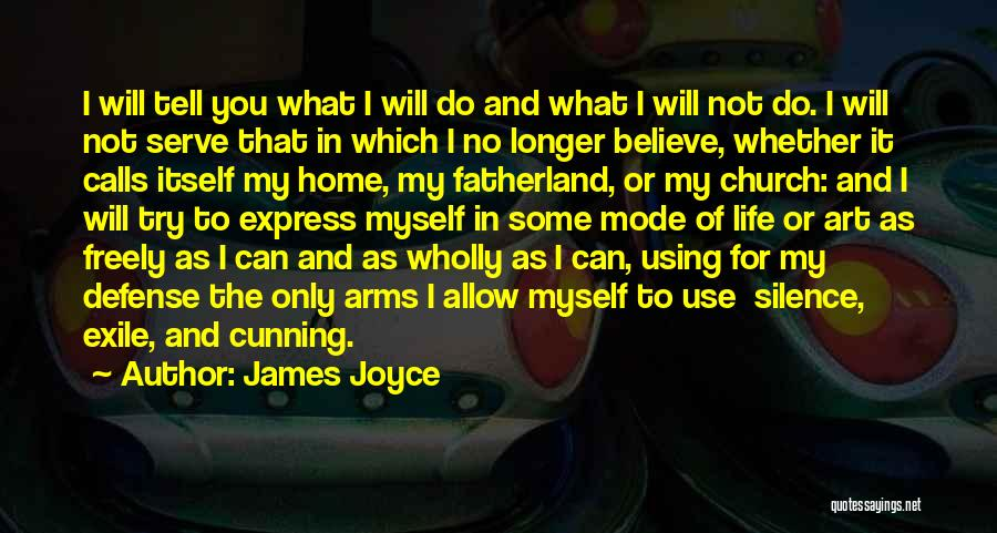 Art Express Quotes By James Joyce