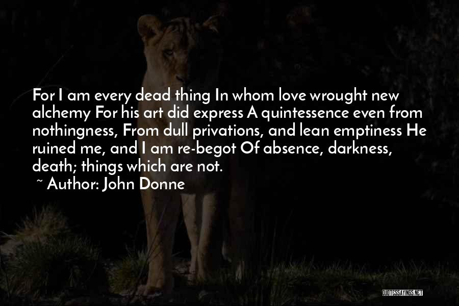 Art Express Quotes By John Donne