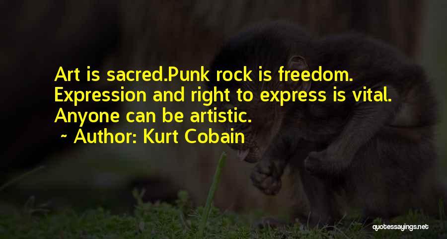 Art Express Quotes By Kurt Cobain