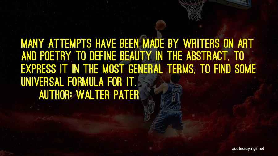 Art Express Quotes By Walter Pater