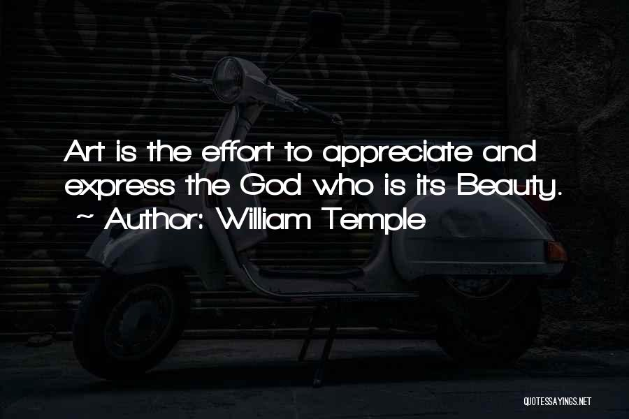 Art Express Quotes By William Temple