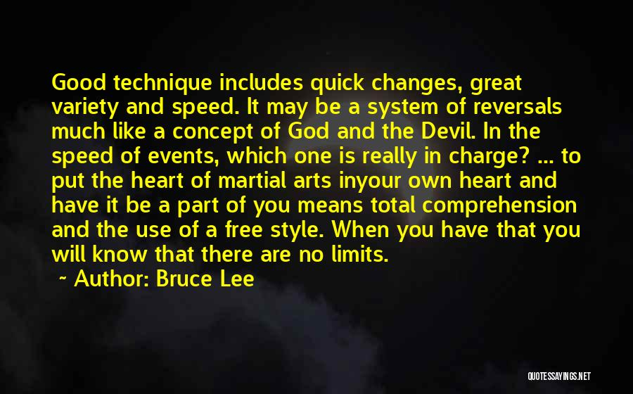 Art Has No Limits Quotes By Bruce Lee