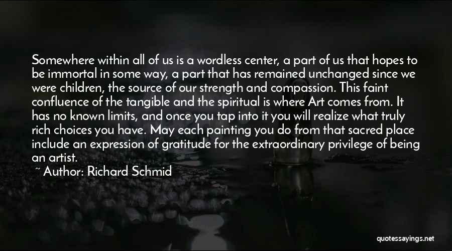 Art Has No Limits Quotes By Richard Schmid