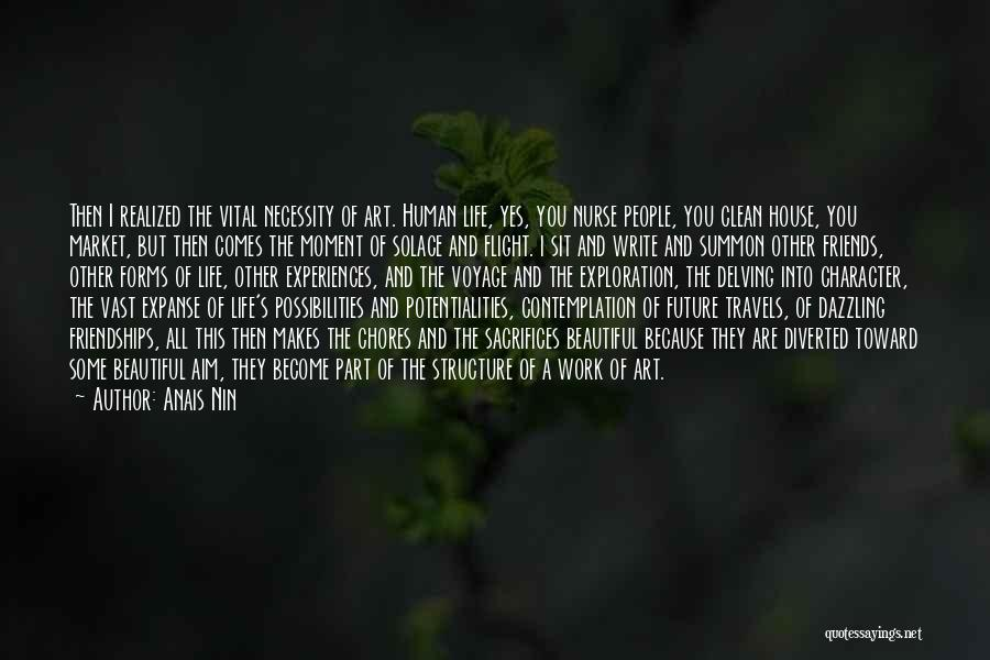 Art Necessity Quotes By Anais Nin