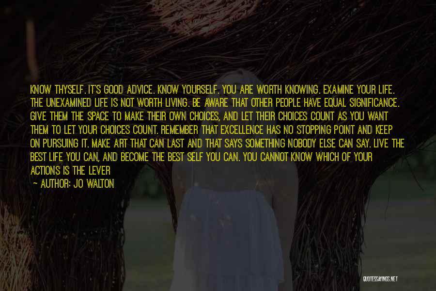 Art Necessity Quotes By Jo Walton