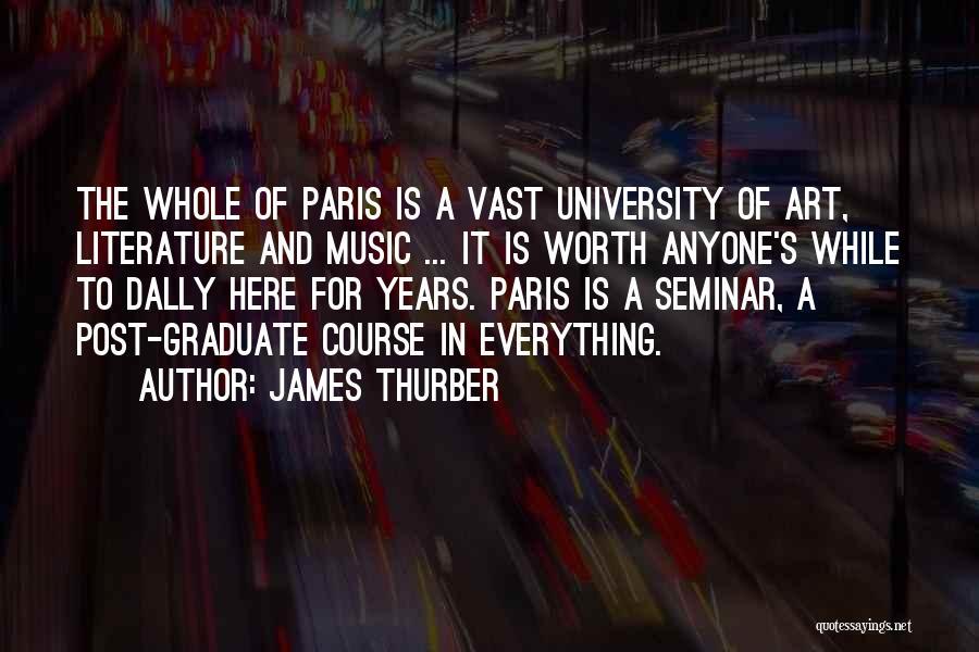 Art Paris Quotes By James Thurber