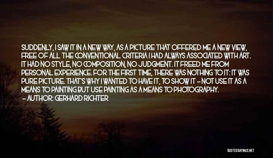 Art Style Quotes By Gerhard Richter