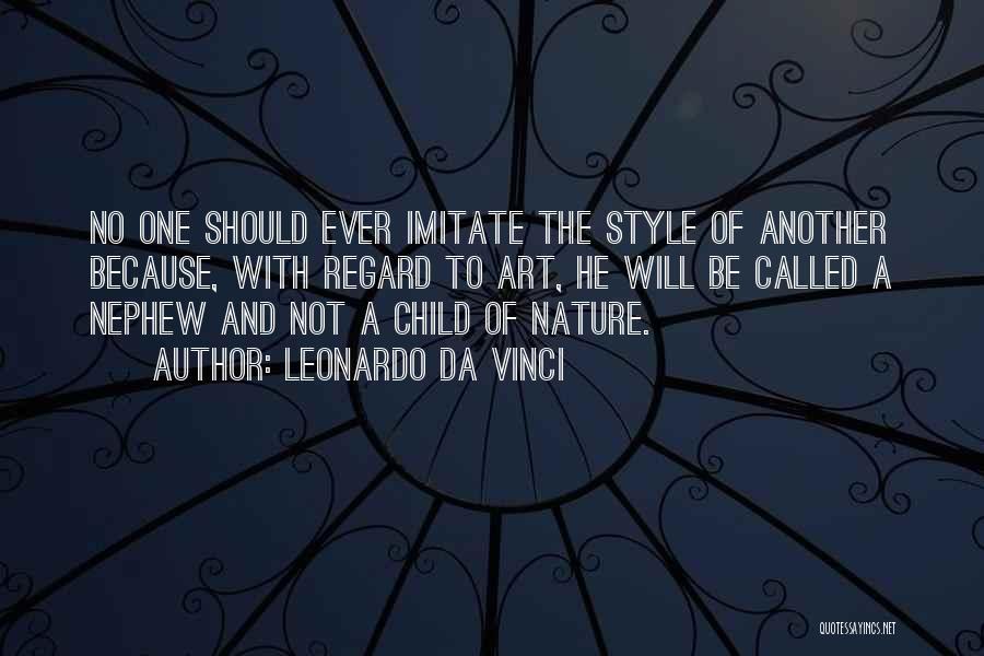 Art Style Quotes By Leonardo Da Vinci