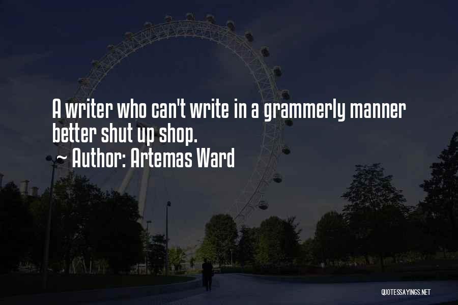 Artemas Ward Quotes 82465