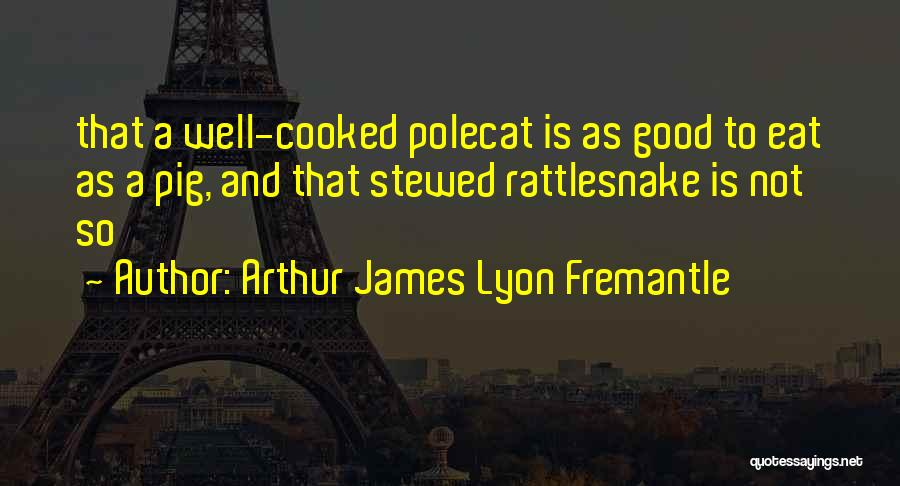 Arthur James Lyon Fremantle Quotes 1280830