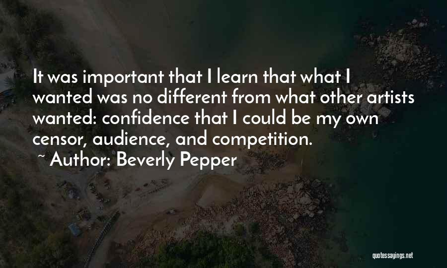Artist And Audience Quotes By Beverly Pepper