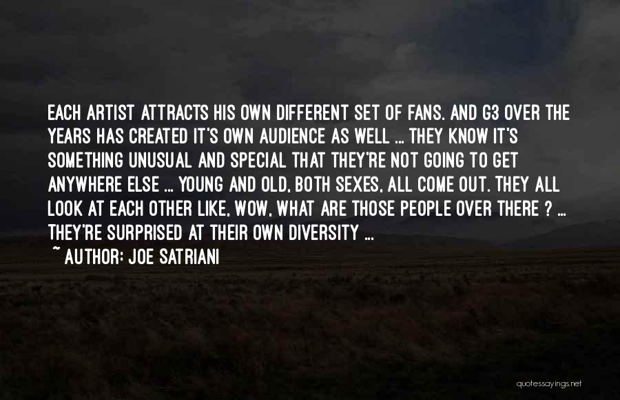 Artist And Audience Quotes By Joe Satriani