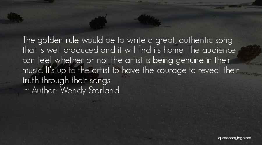 Artist And Audience Quotes By Wendy Starland