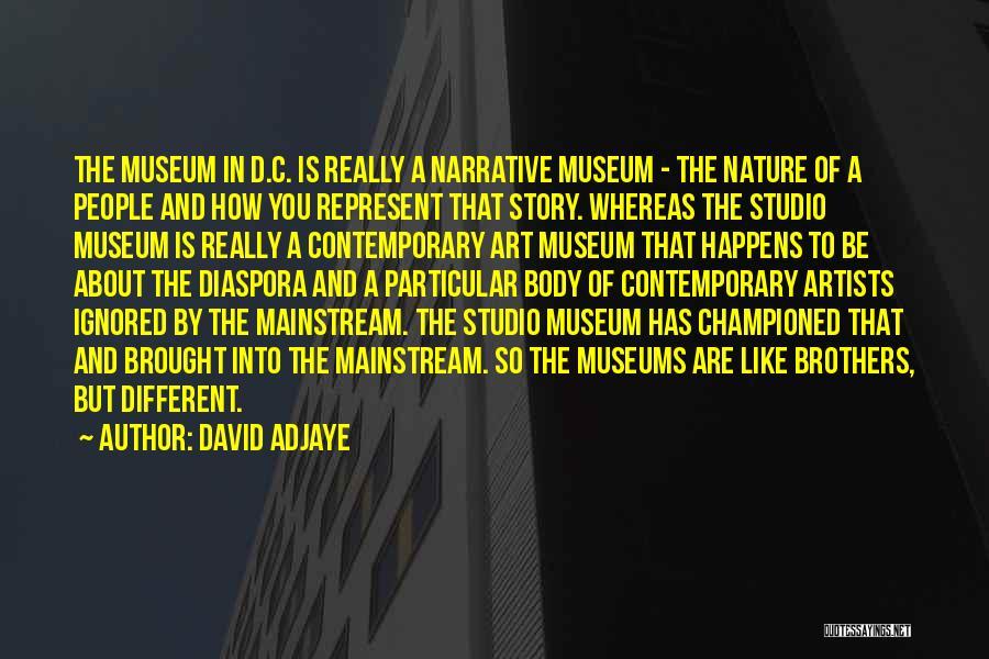 Artists And Nature Quotes By David Adjaye