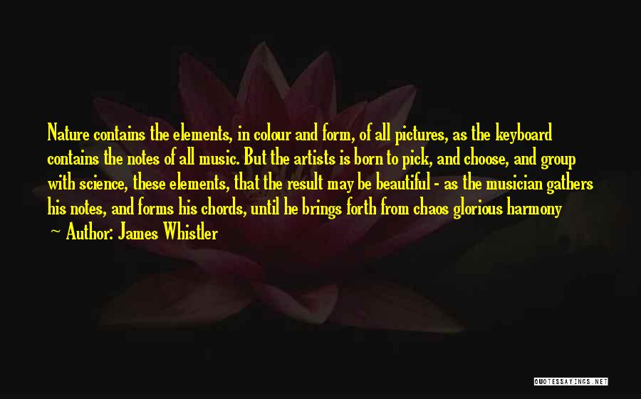 Artists And Nature Quotes By James Whistler