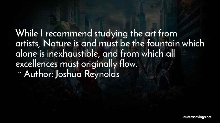 Artists And Nature Quotes By Joshua Reynolds