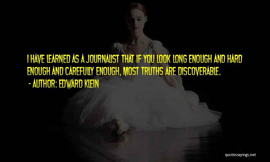 As Long Quotes By Edward Klein