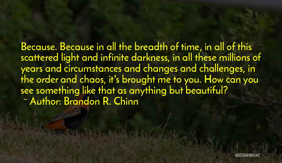 As Time Changes Quotes By Brandon R. Chinn