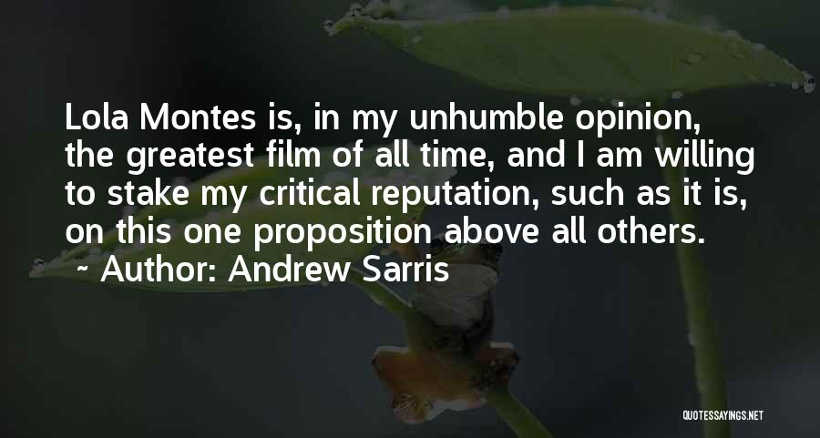 As Time Quotes By Andrew Sarris