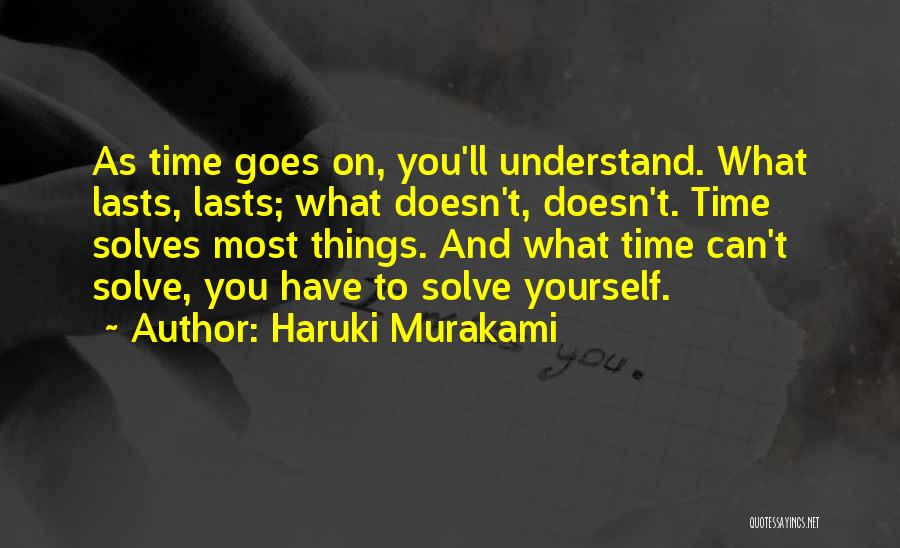 As Time Quotes By Haruki Murakami