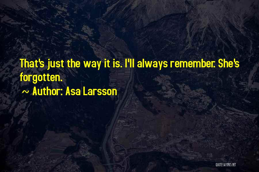 Asa Larsson Quotes 600183