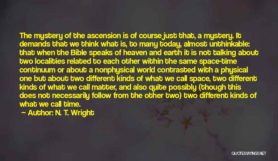 Ascension Bible Quotes By N. T. Wright