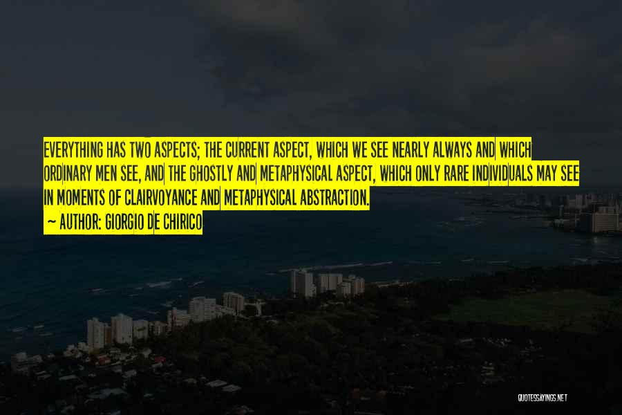 Aspects Quotes By Giorgio De Chirico