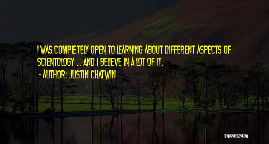 Aspects Quotes By Justin Chatwin
